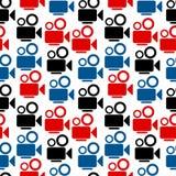 Camera seamless pattern. On white background Royalty Free Stock Image