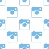 Camera seamless pattern Royalty Free Stock Photo