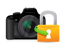 Camera security lock Royalty Free Stock Photos