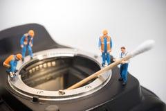 Camera sensor cleaning Stock Photos