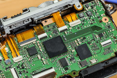Camera sensor matrix close up royalty free stock photo