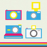 Camera set in cmyk. Abstract background Royalty Free Stock Photos