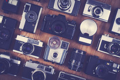 Camera set photography background Royalty Free Stock Photo