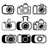 Camera set symbols  illustration Stock Photos
