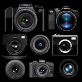 Camera set. Vector Stock Images