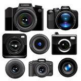 Camera set. Vector Royalty Free Stock Photos