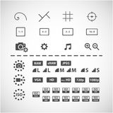Camera setting icon set, vector eps10 Royalty Free Stock Photos