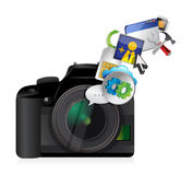 Camera settings tools Royalty Free Stock Images