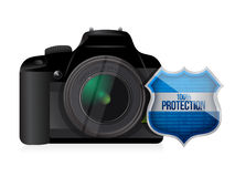 Camera shield security protector Royalty Free Stock Images