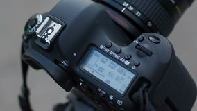 The camera shooting timelapse, countdown shot stock footage