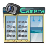 A camera shop Royalty Free Stock Images