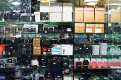 Camera shop. Stock Images