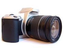 Camera shot. Popular camera on a white background Royalty Free Stock Photography