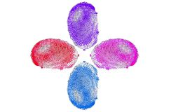 Finger prints stock images