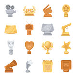 Camera, shout, Globe, objects for rewarding films.Movie Awards set collection icons in cartoon style vector symbol stock Royalty Free Stock Images