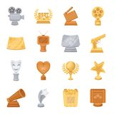 Camera, shout, Globe, objects for rewarding films.Movie Awards set collection icons in cartoon style vector symbol stock Royalty Free Stock Photo