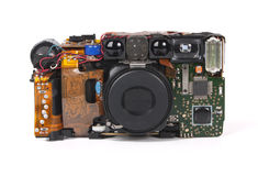 Camera showing inner workings Royalty Free Stock Photos