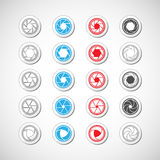 Camera shutter icon set, vector eps10 Stock Photo