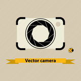 Camera with shutter icon Stock Photos
