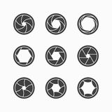 Camera shutter icons. Set of Camera shutter icons Royalty Free Stock Photo
