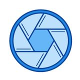 Camera shutter line icon. Royalty Free Stock Image