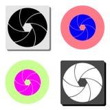Camera shutter. flat vector icon vector illustration
