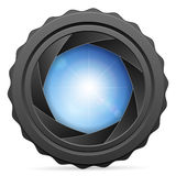 Camera shutter with sun Royalty Free Stock Photos