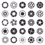 Camera shutter vector icons set Royalty Free Stock Images