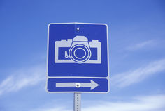 A camera sign Stock Photo