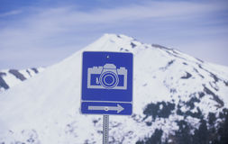 A camera sign Stock Photography