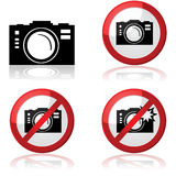 Camera signs Stock Photography