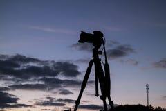 Camera, silhouette Stock Image