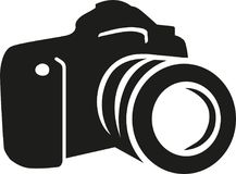 Camera silhouette vector. Occupation vector Royalty Free Stock Photos