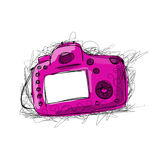 Camera, sketch for your design Stock Images