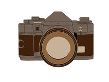 Camera sketched Royalty Free Stock Images