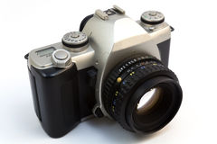 Camera SLR. Generic camera SLR with space for name Stock Images