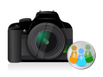 Camera social network icon Royalty Free Stock Photography