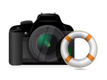 Camera sos concept Stock Photography