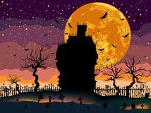 Camera spaventosa di oscurità di Halloween. royalty illustrazione gratis