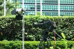 Camera and Spotlight Royalty Free Stock Photography