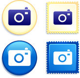 Camera Stamp and Button Stock Photography