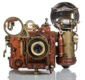 Camera steampunk Royalty-vrije Stock Afbeeldingen