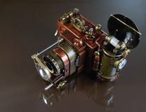 Camera steampunk. Royalty Free Stock Photography
