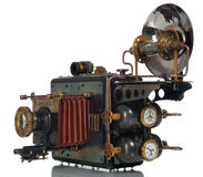 Camera steampunk Stock Images