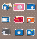 Camera stickers Stock Image