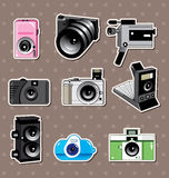 Camera stickers Stock Images