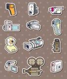 Camera stickers Stock Image