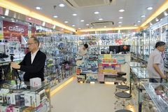 The camera store in hongkong Royalty Free Stock Images