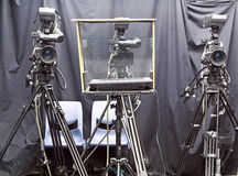 Camera in studio Stock Photos