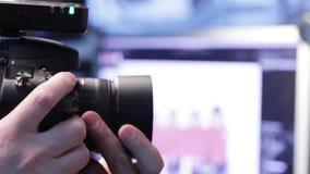 Camera in studio stock footage